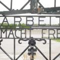 Dachau Concentration Camp gate: Arbeit Macht Frei