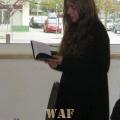 No lançamento do meu primeiro livro