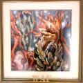 Seaweeds and corals in bottom sea - Elisabetta Errani Emaldi's painting