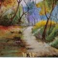 Pintura  s/ Tela com Areia Colorida