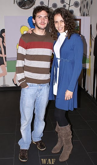 Com o actor Miguel Nunes