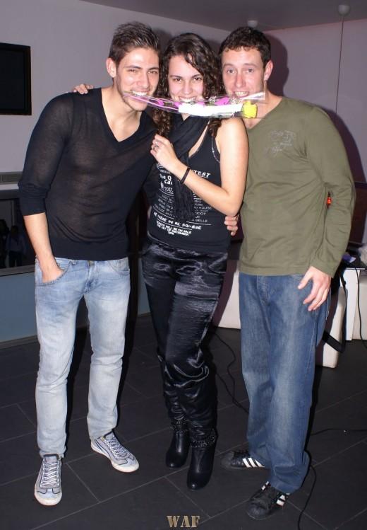 Com os actores Angelo Rodrigues e Nuno Pardal