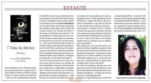 """Referência do Livro: """"7 Vidas de Afectos"""" publicado no dia 29 Fev. 2012 no Diário do Minho"""