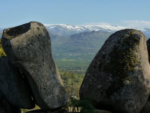 Dos roas y la montaña