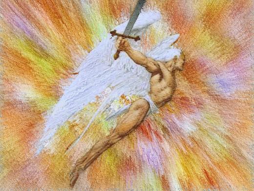 EL ANGEL DE LA ESPADA