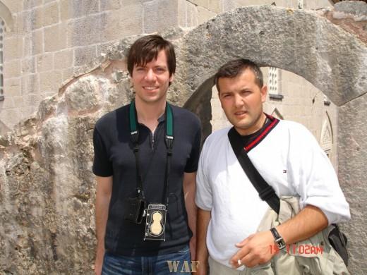 Fahredin Shehu and Evan Reil in Bosnia