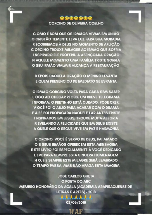 HOMENAGEM À CORCINO DE OLIVEIRA COELHO