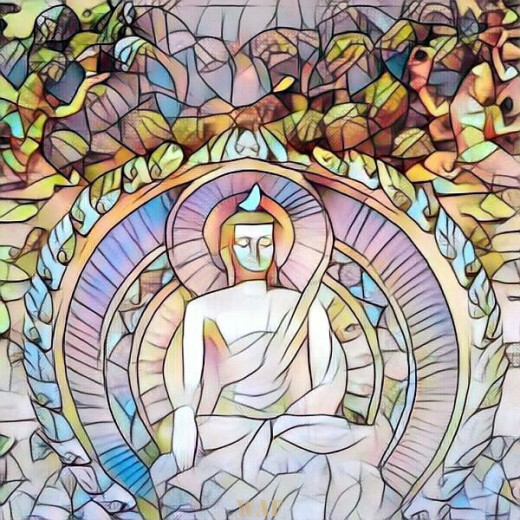 Vitral de Buda