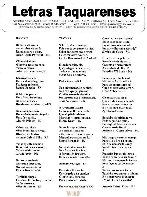 LETRAS TAQUARENSES 48 MAIO DE 2013