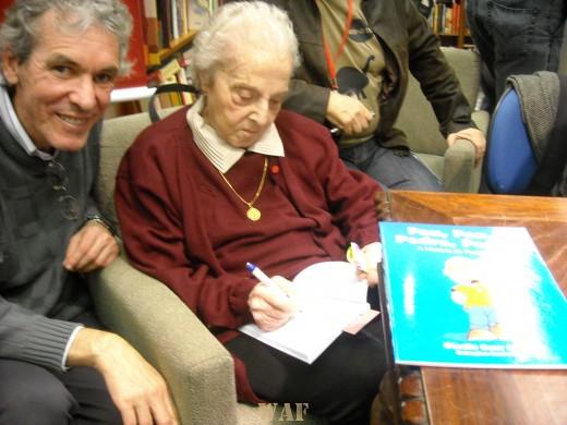 Com a mestra Tatiana Belinky