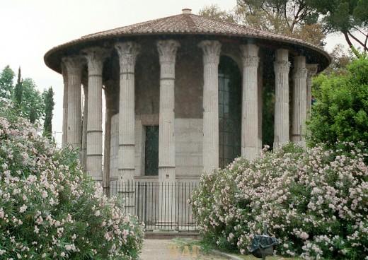 the Temple of Vesta, in Rome