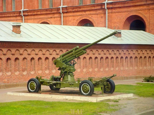 a Cannon on display in St. Petersburg Russia