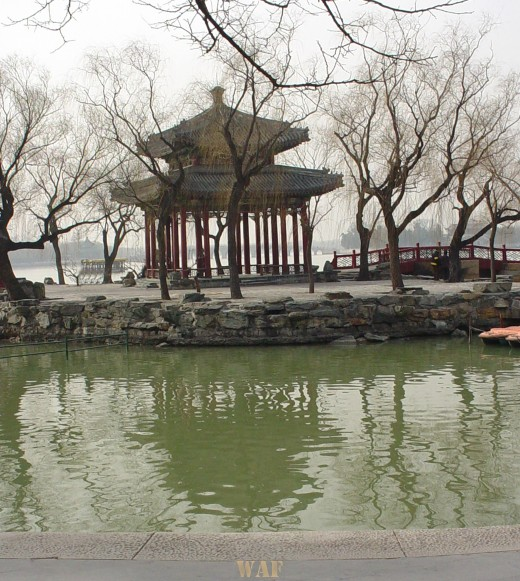 a Gazebo across the water at the Summer Palace (Beijing, China)