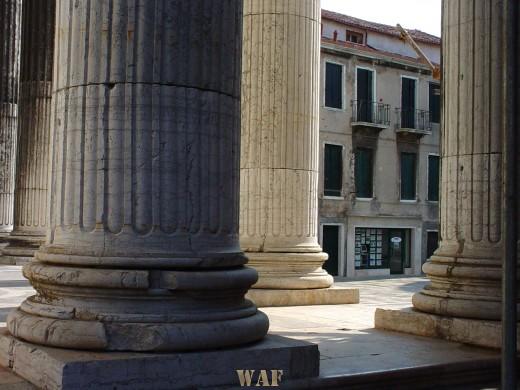 columns in Venice (Italy)