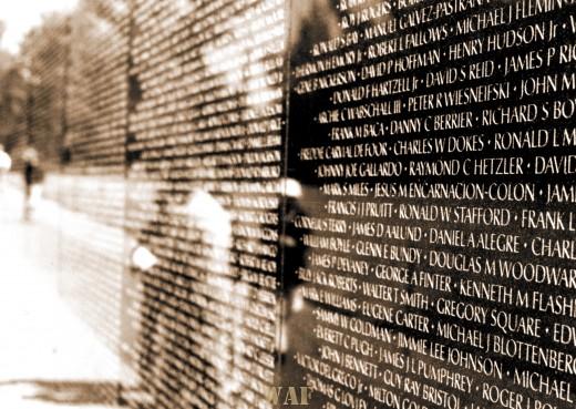 the Vietnam Veterans Memorial Wall (Washington D.C.)