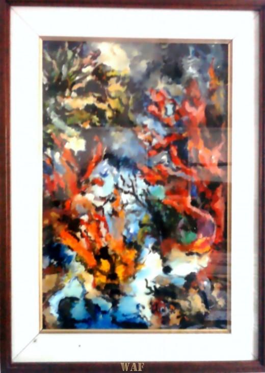 Corals and seaweeds - Elisabetta Errani Emaldi's painting